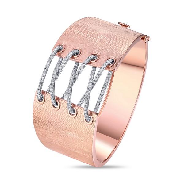 Lūvente 14kt Rose Gold Corset Cuff Bracelet
