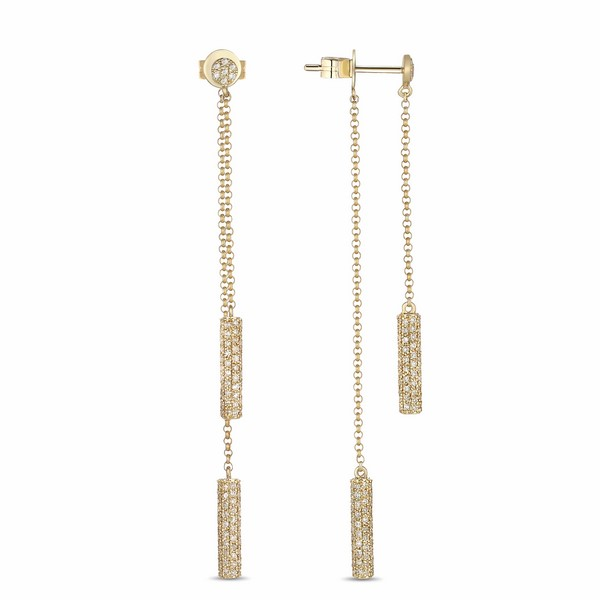 Lūvente 14kt Yellow Gold Diamond Earrings.