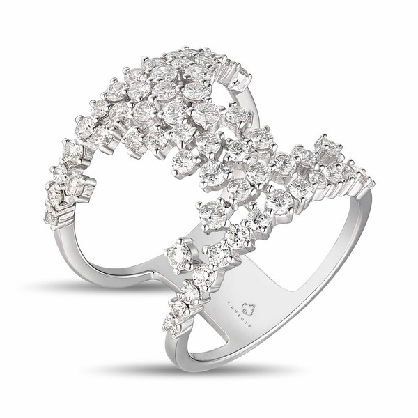 Lūvente 14kt White Gold Prong Set Diamond Ring