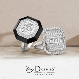 Doves Jewelry Black and White Rings